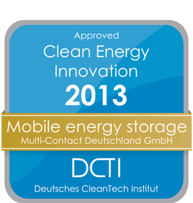 Innovation award for mobile energy storage concept